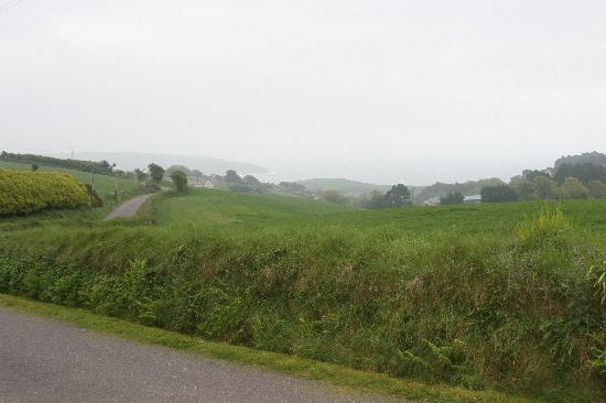 Walyunga: View from the end of the driveway out towards the fields and sea