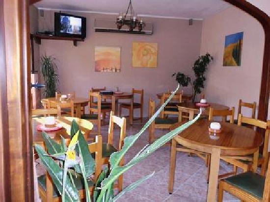 Hostal Calma: Our Restaurant&TV Room