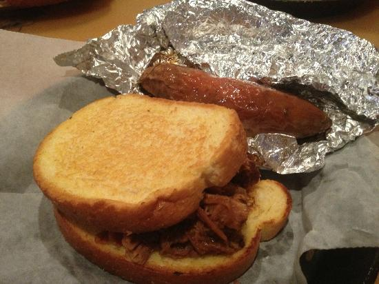 Sonny's BBQ: Barbeque Sandwich with a baked sweet potato