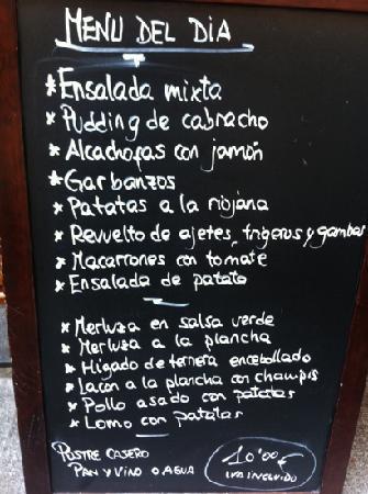 Politena: menu