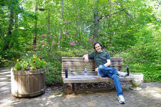 Helen Avalynne Tawes Garden: Benches at the garden are great for a quick lunch outdoors