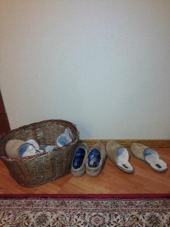 River Rock Inn : You have to take your shoes off. They have slippers for guests to wear.