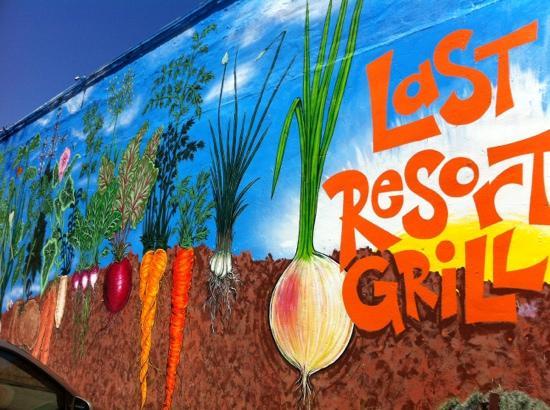 Last Resort Grill: Outside mural