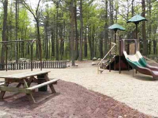 Boston Minuteman Campground: Playground, heated pool, basketball, volleyball, bocce, ping pong, horseshoes, and more!