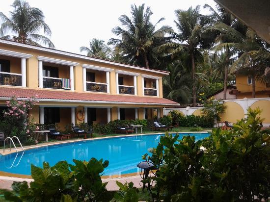 Casa De Goa Boutique Resort: Blick von meinem Frühstückstisch