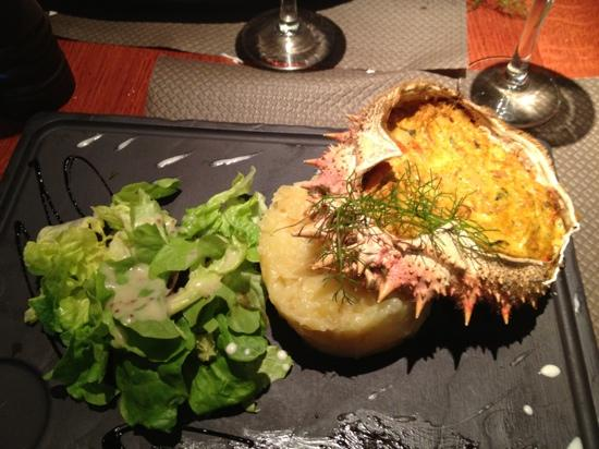 A contre courant: crab with coconut milk