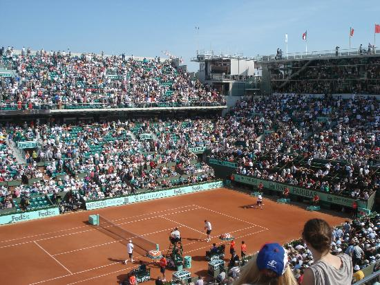 Roland Garros Location In Paris Map.View From My Seat On Philippe Chatrier Show Court Picture Of Stade