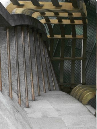 Monumento y Museo de la Revolucion: The stairs in the monument dome.