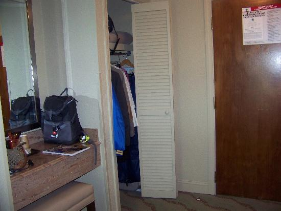 Resort and Conference Center at Hyannis: closet and vanity area near entrance door