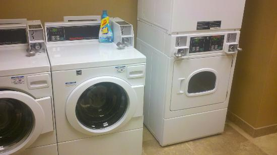 Hampton Inn & Suites Wichita-Northeast : $2 wash and $2 dry. 2 washers and 2 dryers.