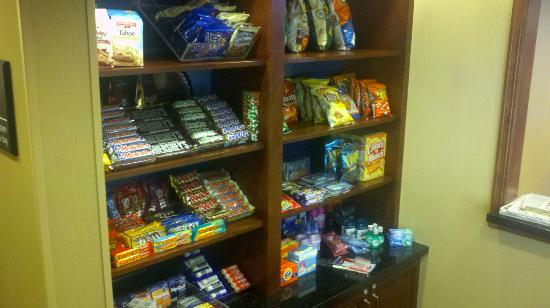 Hampton Inn & Suites Wichita-Northeast : Half of their Pantry at front desk