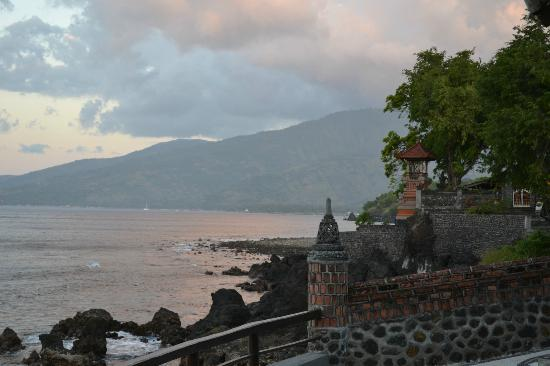 Batu Belah: View to Amed from the restaurant