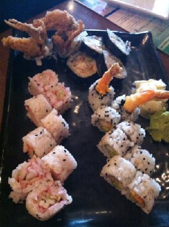 Pan Asia: Sushi (Rock N Roll/Cucumber Roll/Shrimp Tempura Roll)