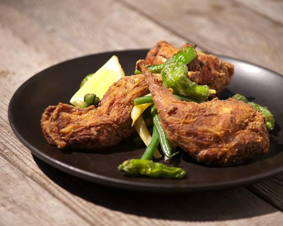 Plate Shop: Fried rabbit with padrone peppers