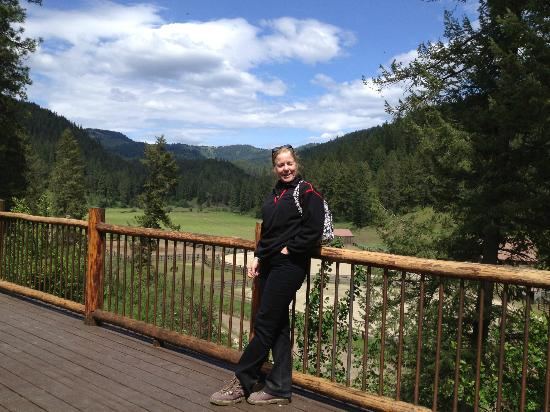 Red Horse Mountain Ranch: view from the lodge deck