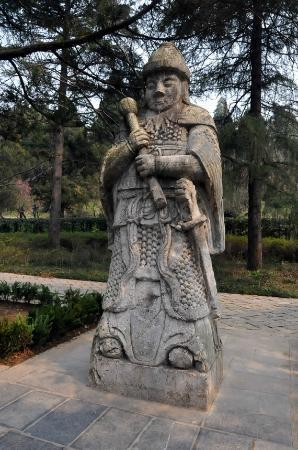 Purple Mountain (Zijin Shan): Stone Warrior on the Sacred Path to Ming Tomb Area