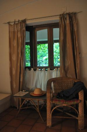Fort House: Room Window - view of the gardens