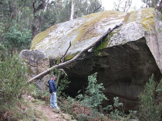 Booroomba Rocks Walk: One of the amazing rocks on the hike up