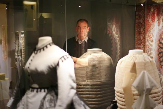 Fashion museum: Dominique among exhibit at Musee de la Mode