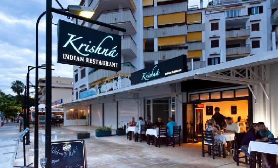 Krishna Indian Restaurant: THE EXTERIOR OF THE RESTAURANT