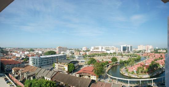 The Majestic Malacca: View from room (think it was 9th floor)