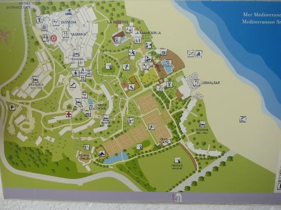 Organisation du village Picture of Club Med Yasmina Tetouan