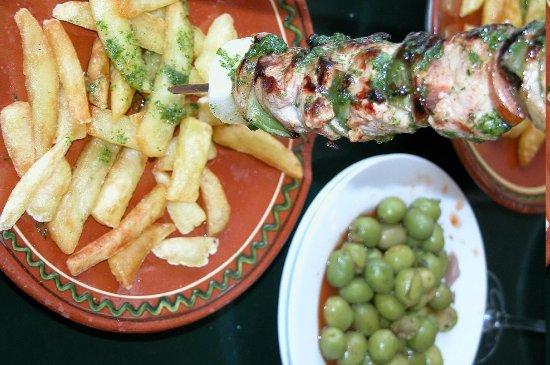 Steakhouse Braseria El Campo: Der Fleischpiess mit Huhn,Rind und Schwein ist mein Favorit