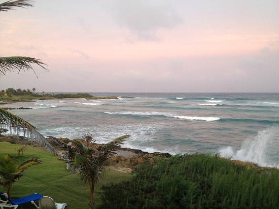 Ocean Spray Beach Apartments: Zimmeraussicht - kurz vor dem Sonnenuntergang