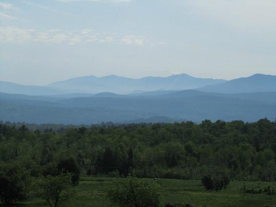The Victorian on Sunset Hill: Morning view of the White Mountains from our balcony.