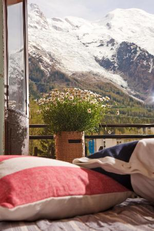 Hotel La Chaumiere: Room with a view of Mont Blanc