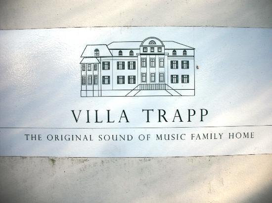 Villa Trapp: Name Plate
