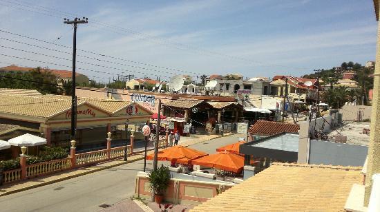 Thomas Bay: View from balcony - main street