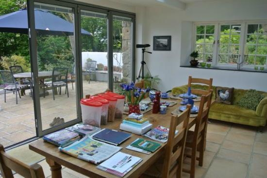 Cove Cottage: I loved the books and guides Sue set out each day for us.