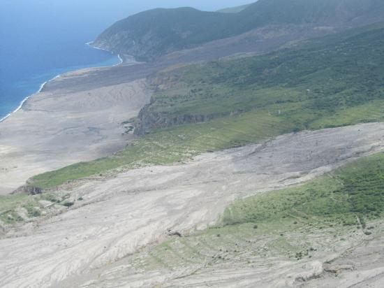 Caribbean Helicopters: Recovering vegitation on the volcanic landscape.