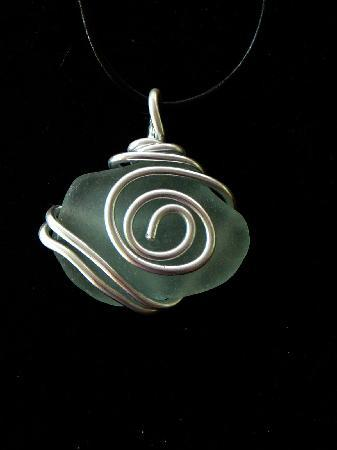 Bamboo Art & Sea Glass Creations: Wire Wrapped Sea Glass