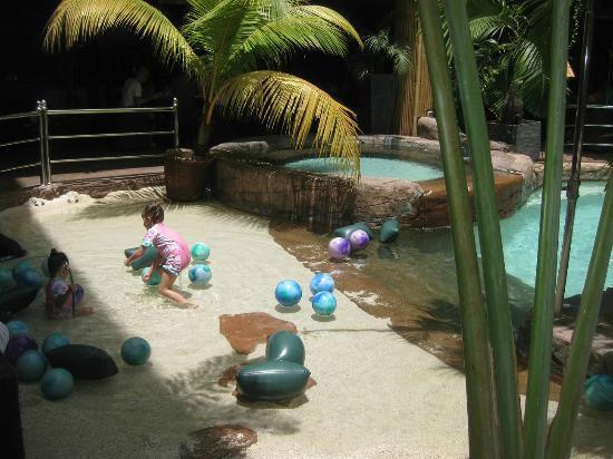 "Kids enjoying the ABC Hotel ""beach"""