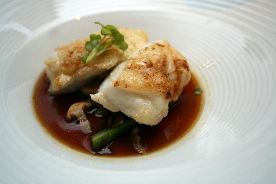 Con Gracia: Monk fish with teriyaki sauce. One lovely piece of suprise menu.