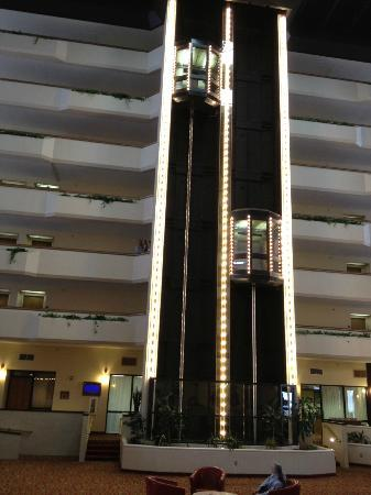 Radisson Hotel Billings: elevators in atrium