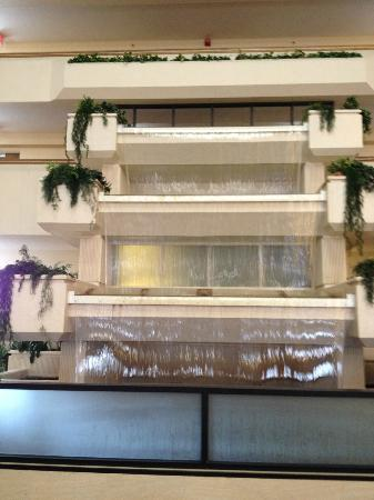 Radisson Hotel Billings: waterfall in atrium