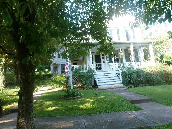 The Angler's Inn Bed and Breakfast: From the front. The private entrance to my sitting room is on the left of the porch