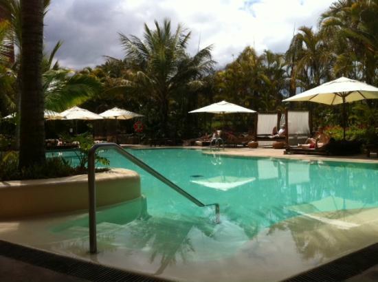 Piscina con hamacas balinesas s lo adultos picture of for Hamacas de piscina