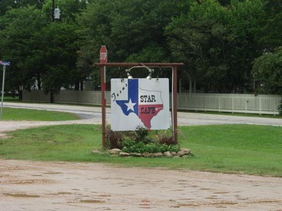 Texas Star Cafe sign