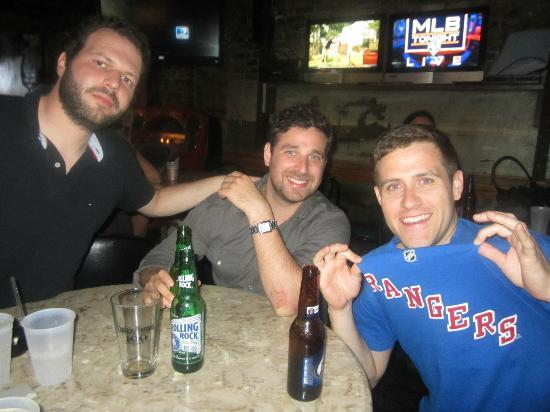 MRB Restaraunt and Bar: Ranger fans watching the Playoff game.