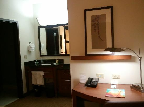 Hyatt Place Philadelphia / King of Prussia: Vanity and sink outside of the shower area