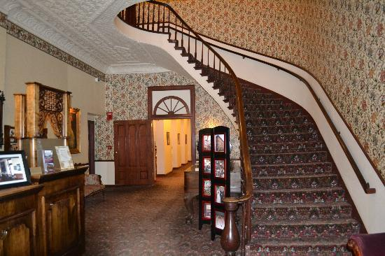 Original Staircase Of The Desoto House Hotel Still Greets Visitors