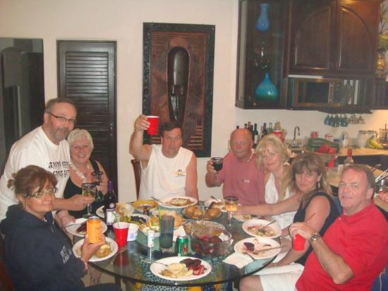 Royal Palms Condominiums: Enjoying dinner in the condo!