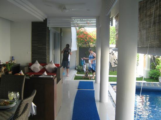 Heliconia Villas : lounge area