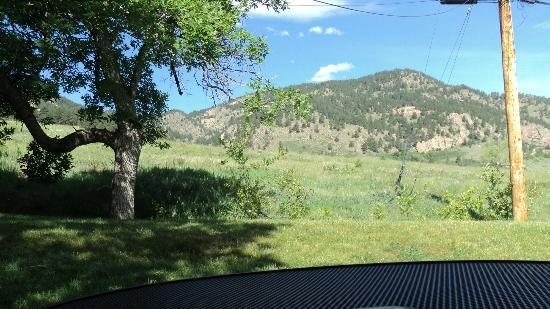 Colorado Chautauqua Lodging: View from the back patio area