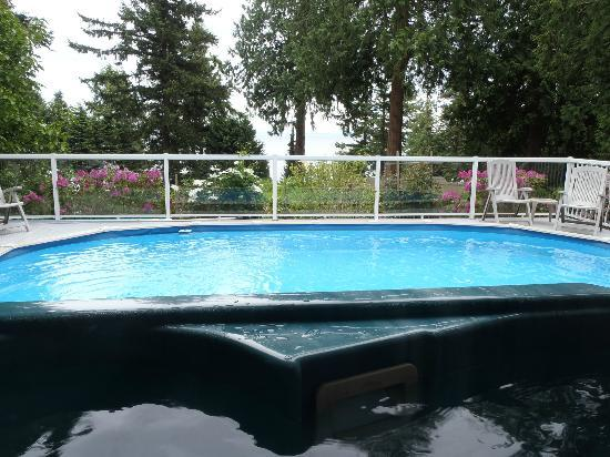 Caprice Bed & Breakfast: Enjoying the view from the hot tub