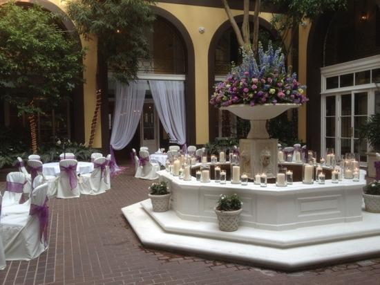 Hotel Mazarin Courtyard Wedding Reception